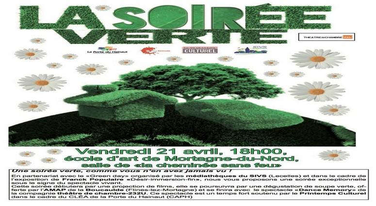 Mortagne.  «Soirée verte» ce  vendredi 21 avril à 18h00.