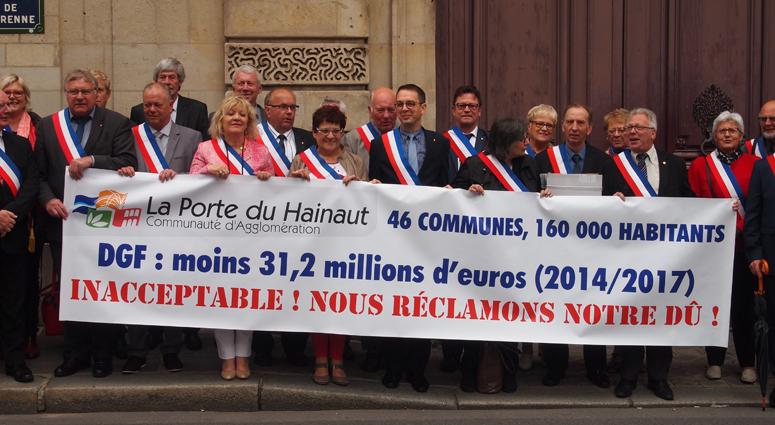 Les maires de la CAPH au ministère de Jean-Michel Baylet