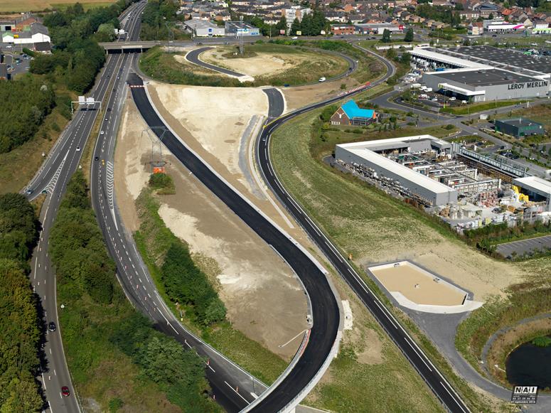 Viaduc pour l'échangeur A2/A23