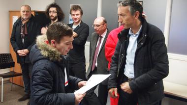 Pierre-Michel Bernard, le maire d'Anzin, toujours présent chez E2C