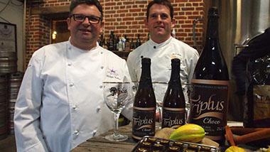 Philippe Guilbert et David Martin, présent depuis 21 ans à la pâtisserie Gourmandine