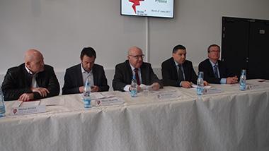 De gauche à droite, Michel Reiser, Olivier Delattre, Alain Bocquet, Ali Benamara et Gérald Thuru