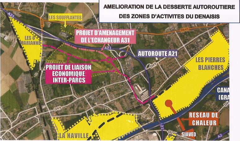 Plan de raccordement à l'A21