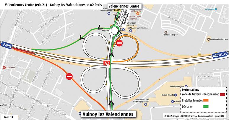 Valenciennes Centre-Aulnoy vers l'A2