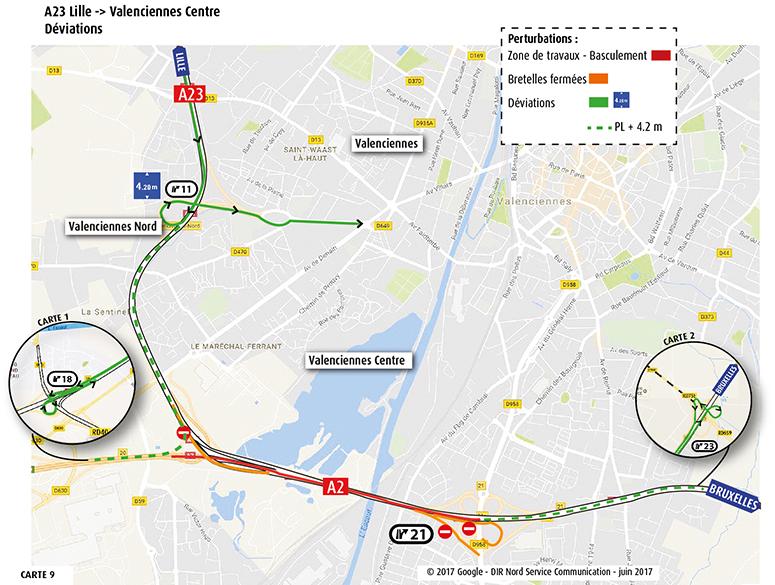 A23 vers Valenciennes Centre