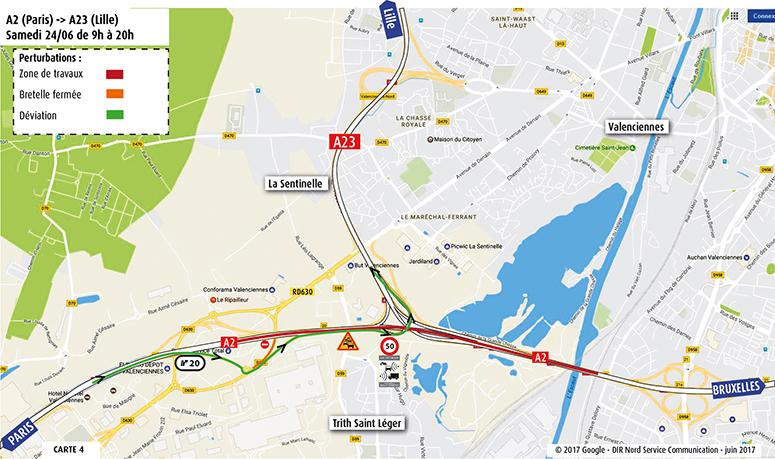 Paris vers A23 Lille
