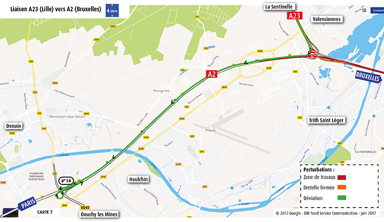 Liaison A23-Lille vers A2