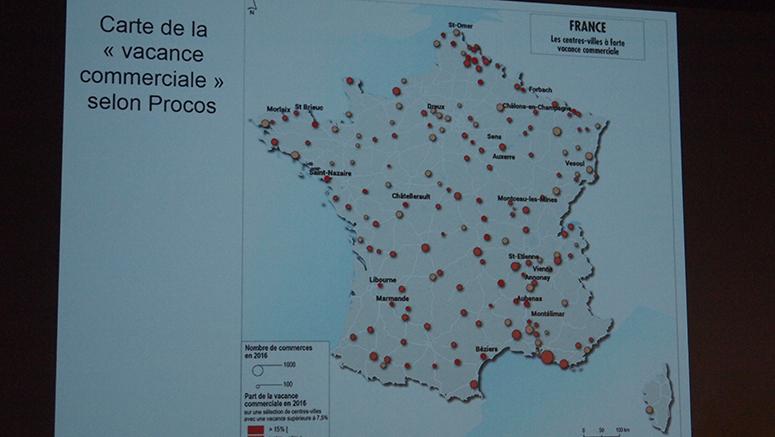 Carte de France des commerces vacants