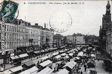 Marché de Valenciennes anciennement Place d'Armes
