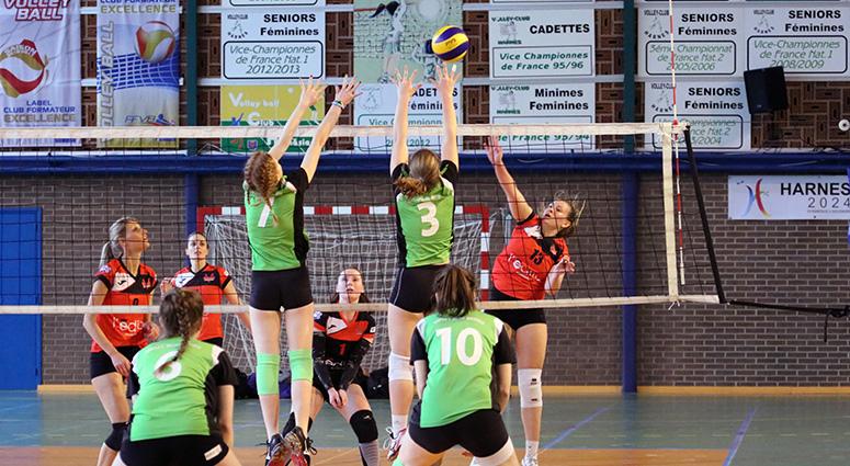 (Volley Club de Valenciennes) La bonne opération à Harnes