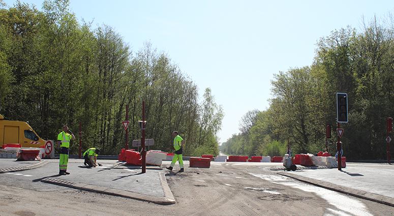 L'échangeur RD 40/RD 953/ l'A23enfin sécurisé