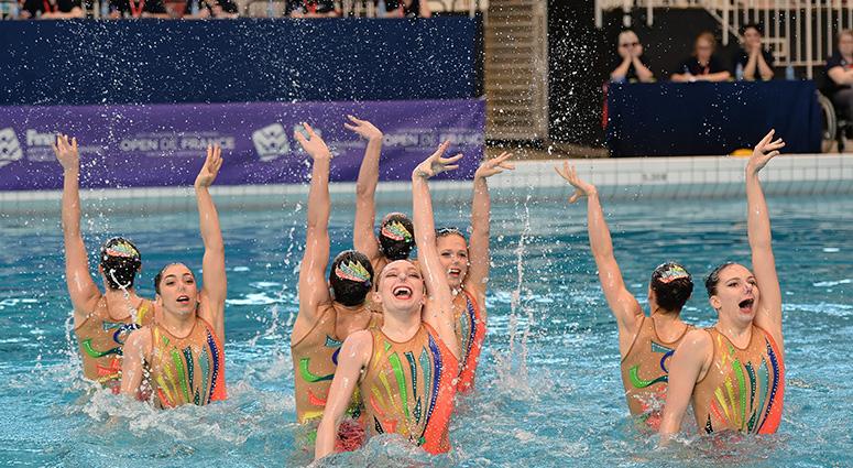 Un gala de natation artistique sur Saint-Amand-les-Eaux