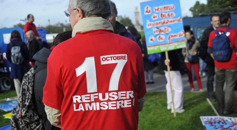 Mercredi 17 octobre, refus de la misère Place d'Armes à Valenciennes