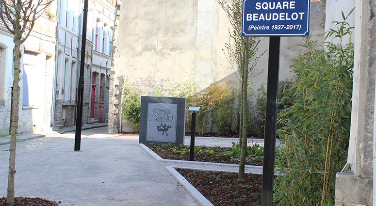 A Valenciennes, un espace public porte le nom de l'artiste Francis Beaudelot
