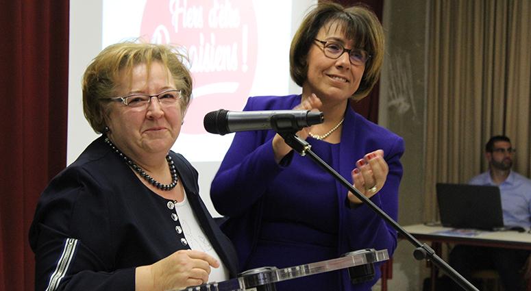 Anne-Lise Dufour contre vents et marées candidate à Denain