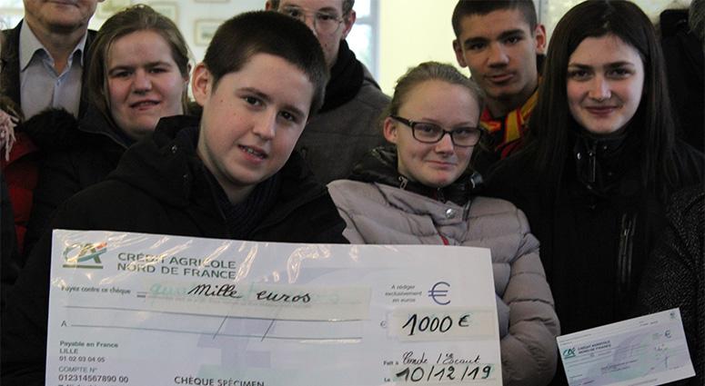 Les Bouchons du Hainaut verse 1 000 € à l'APEI du Valenciennois