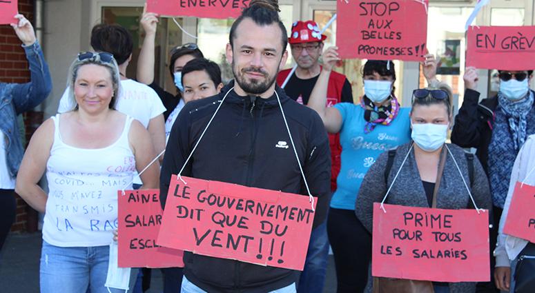 Les soignants, les syndicats, et l'EHPAD d'Anzin en 1ère ligne à Valenciennes