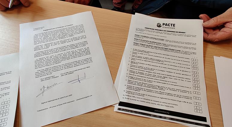 (MARLY) La liste d'union de l'opposition signe le PACTE pour la transition écologique