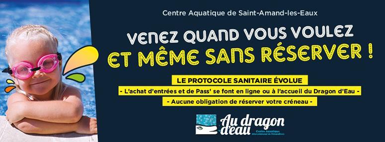 Le protocole évolue au Centre aquatique de l'Amandinois