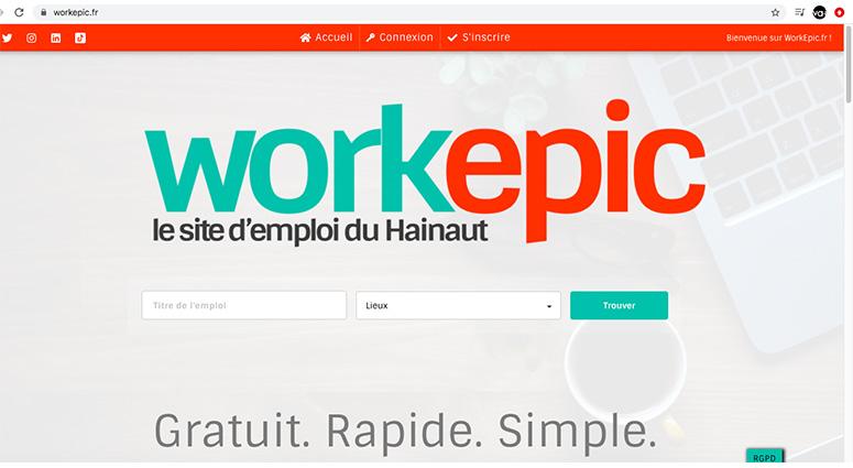 Nouveau site pour la recherche d'emploi dans le Hainaut
